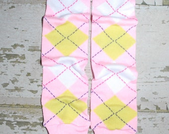 pink, argyle, leg warmers, baby leg warmers, toddler leggings, plaid babylegs, girl legwarmers, preppy girl, girl clothes, winter