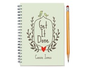 2016-2017 Personalized 18 month planner,  Get it Done, Start any month, Weekly planner, 18 month personal planner, calendar