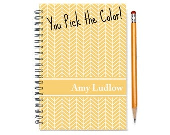 12 or 24 month Monthly Planner, Personalized 2017 2018 Calendar Notebook, Start Any Time, Add Your Name, Custom Gift Idea, SKU: pn chevron