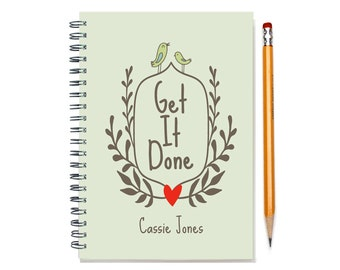 2017-2018 Personalized 18 month planner,  Get it Done, Start any month, Weekly planner, 18 month personal planner, calendar, SKU: epi wreath