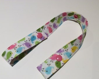 TINY BIRDS - Toy Tether - Toy Leash - Toy Strap - Sippy Cup Tether - Soother Tether - Baby Gift Under 10 dollars