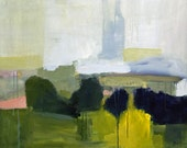 abstract art, contemporary art, abstract landscape, blue and yellow art, landscape framed art