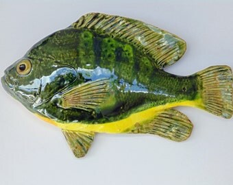 Bluegill Ceramic fish art decorative wall hanging