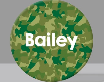 Personalized Child's Plate - Camouflage Plate - Camo in Various Color Options - Melamine Bowl or Plate Custom