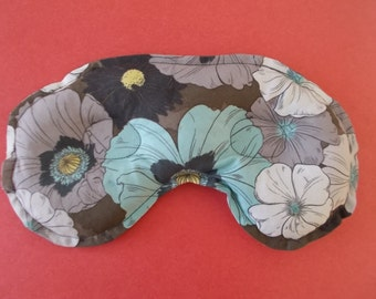 Allergy, Headache, and Sinus Pain Relief - Flowered Fabric  Hot/Cold Mask Relax the Natural Way!