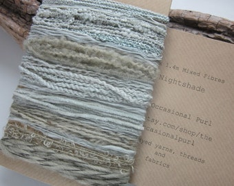 Large Nightshade Natural Dye Pale Grey Blue Textured Thread Pack