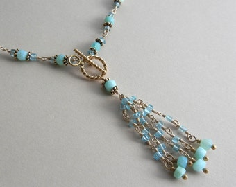 Apatite and Blue Opal Arnemetia Necklace