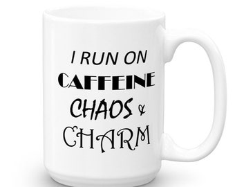 I Run on Caffeine Coffee Mug - Funny Mugs - Mugs with Sayings - Coffee Gift - Office Gift - Coffee Cup - Gift Under 20 - Coffee Mugs - Mugs
