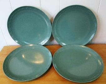 4 vintage melmac dinner plates Rio Vista by Texas Ware