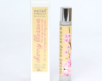 Cherry Blossom Roll On Perfume - vegan friendly scent in coconut oil - 95% natural