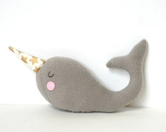 Baby Soft Toy, New Baby Gift, Plush Narwhal Softie for Baby, Kids, Adults