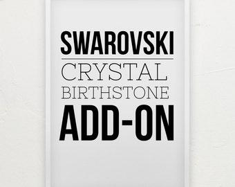 ADD-ON Only Swarovski Crystal Birthstone