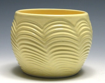 Small Yellow Bowl with Scalloped Design