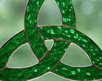 Stained Glass Celtic Trefoil