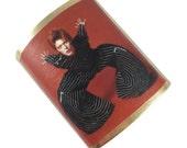 David Bowie 24k Plated Cuff - Ziggy