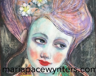 Perfect Faith - Original mixed media painting by Maria Pace-Wynters