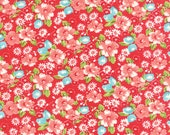 "34"" piece/remnant - Little Ruby - Little Swoon in Red: sku 55130-11 cotton quilting fabric by Bonnie and Camille for Moda Fabrics"