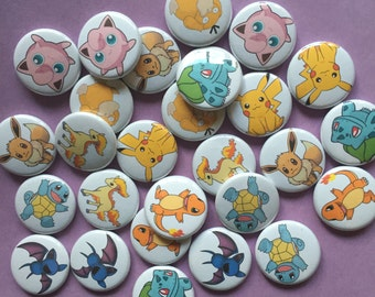 Pokemon - One Inch Pinback Buttons