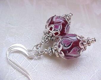 Red Heart Earrings Valentines Day Earrings Red Lampwork Earrings Heart Earrings Valentines Day Jewelry Red Heart Jewelry Lampwork Jewelry