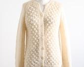 Vintage Cream Italian Hand Knitted Sweater