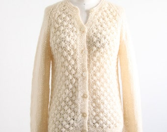 Vintage Cream Italian Hand Knitted Sweater