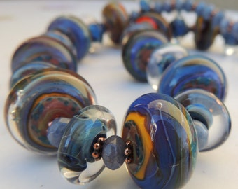 Bluebelle Handmade Lampwork Bead Necklace
