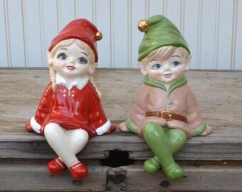 Handmade Pixie Elves - Shelf Sitter - Christmas - Royal Hill Vintage