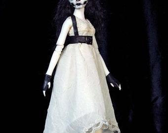 "Artist Made Resin BJD - 13"" Tall - Ghost Catrina - Full Set - Ball Jointed Doll"