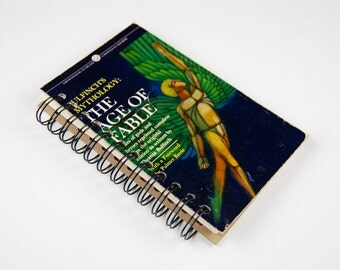 Bullfinch's Mythology: The Age of Fable- Recycled Book Journal, Notebook, Sketchbook, made from altered book