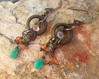 Rustic Sunset Earrings