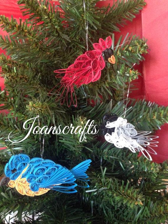 All Three Mini Quilled Bird Ornaments