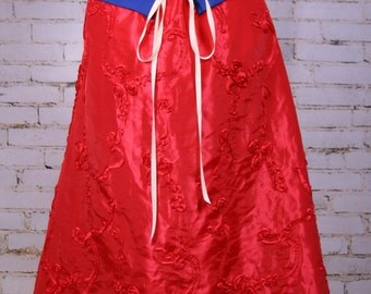 Red Rose Swagger Skirt-Adjustable and Versatile