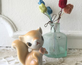 Vintage Squirrel Japan Porcelain Figurine