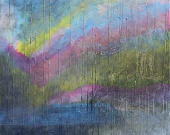 Surprise Valley - Abstract Surrealist Seascape - Maxine Orange Art
