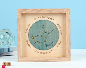 Personalised Horoscope Birthday Print - best friend gift - newborn gift - birth date gift - personalised birthday gift - horoscope gift
