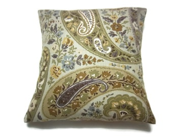 Decorative Pillow Cover Sage Green Blue Taupe Brown Throw Toss