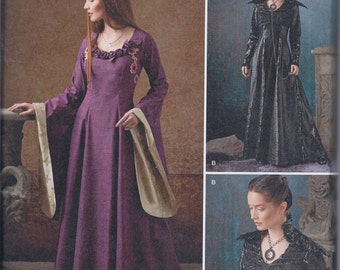 Simplicity 1137 Misses Women's Medieval Ren Faire Game of Thrones Costume Gown Dress UNCUT Sewing Pattern