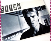 SALE 40% OFF--- STING The Dream of the Blue Turtles - First Solo Album - Recycled / Upcycled Retro Record Album Cover Journal Notebook - Vin