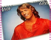 SALE 40% OFF--- ANDY Gibb Shadow Dancing - Timecycled / Recycled / Upcycled Retro Record Album Cover Journal Notebook - Eco Friendly - Vinta