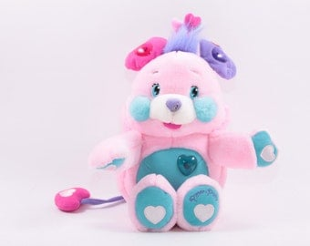 Popples Pitter Patty Plush Toy Giggles Lights Up Glow Charm Pink Works! ~ The Pink Room ~ 161107