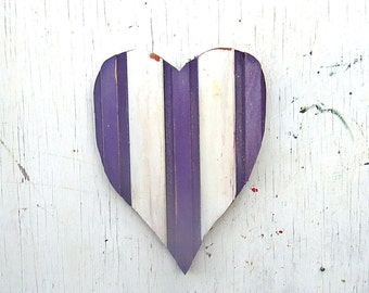 Purple Heart, Nursery Decor, Purple Wall Decor, Reclaimed Wood Heart, Purple Kids Room, Wood Wall Decor, Distressed heart