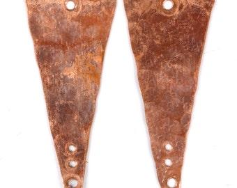 Handmade Rustic Copper Earring Components - 2 pieces EC222