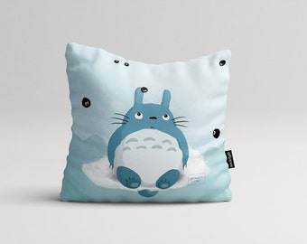 Totoro fanart pillow cover