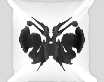 Psychology Art Throw Pillow Rorschach Inkblot Test 18x18 #27