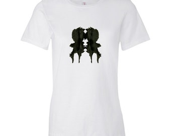 Rorschach Ink Blot Psychology T Shirt Gift for Therapist Womens Style 1