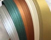 """1/4"""" Weaving Paper Strips~ Shimmer Holiday Alternate (100 strips)"""