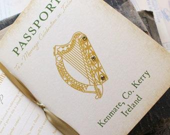 Ireland Passport Wedding Invitation - Design Fee