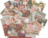 Ephemera Pack Festive Christmas, Christmastime Papers Vintage Style
