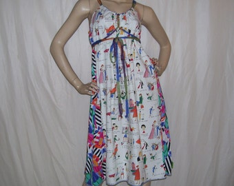 Hen Party Dress OOAK Bridal Shower Fun Gift Bachelorette A-line How To Keep Your Husband Humor Cruise Resort Sundress Adult Free Size S M L
