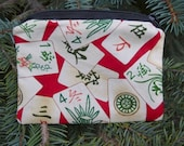 Mahjong coin purse, gift card pouch, credit card case, pick from 5 fabrics, The  Raven